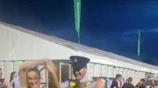 Policeman gets in to the groove at Irish festival
