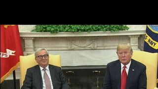 Jean-Claude Juncker chuckles his way through photocall with Donald Trump