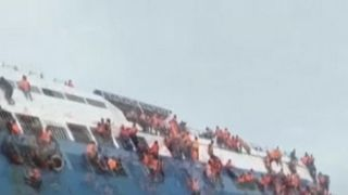 Rescue operation for sinking ferry in Indonesia