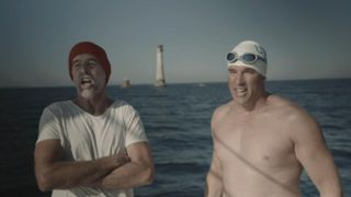 Long Swim: Lewis Pugh sings a sea shanty as dolphins swim by the boat
