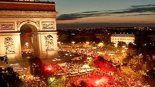 The scene in Paris after the French national football team made it to the World Cup final