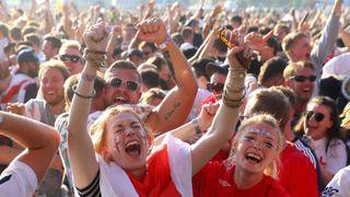 Soccer Football - World Cup - England fans watch Croatia v England - Hyde Park, London, Britain - July 11, 2018