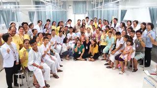 Thai boys and hospital staff.