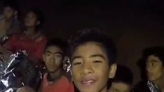 Stranded boys received medical treatment from Thai Navy in caves