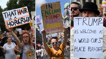 Thousands of people have been protesting against Donald Trump