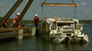 Duck boat raised to surface