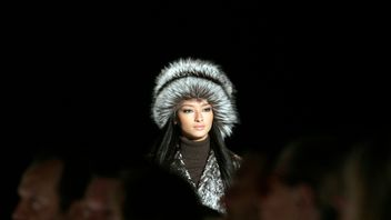 A model wears a creation from the Michael Kors 2007 fall collection during New York Fashion Week