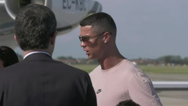 Ronaldo lands in Turin