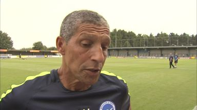 Hughton: I'm happy with my squad