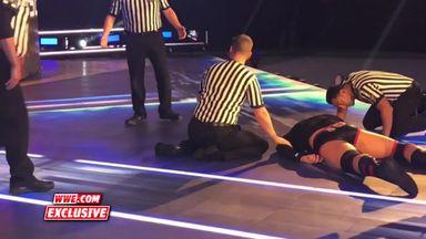Samoa Joe attacks Tye Dillinger before SmackDown