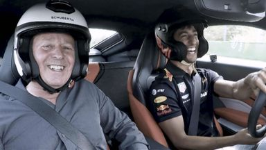 Ricciardo and Brundle hot lap