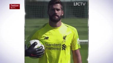 Liverpool unveil Alisson