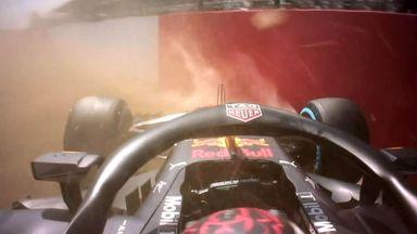 Verstappen spins off in P2