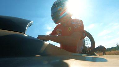 Kimi Raikkonen in a hovercraft!