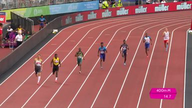 USA take comfortable 400m win