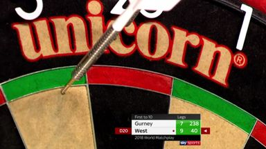 West's 11 missed match darts