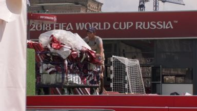 World Cup clean-up begins