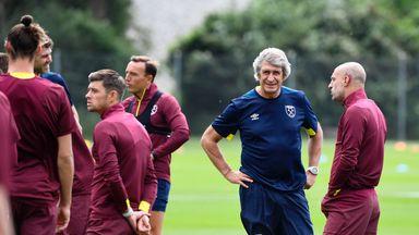 Pellegrini takes West Ham training