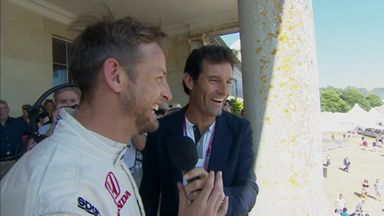 Button arrives at 'spectacular' Goodwood