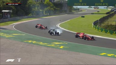 Bottas and Vettel collide