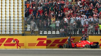 Vettel crashes out while leading