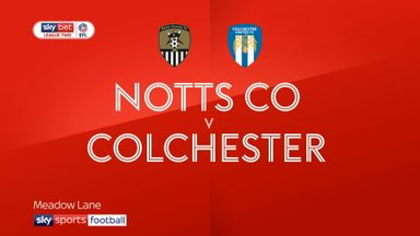 Notts County 0-0 Colchester