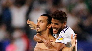 Ibrahimovic scores first MLS hat-trick