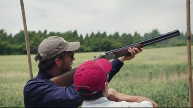 Red Bull's Clay Pigeon shoot
