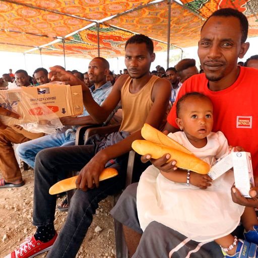 Starvation, squalor and overcrowding - life in a Libyan detention centre