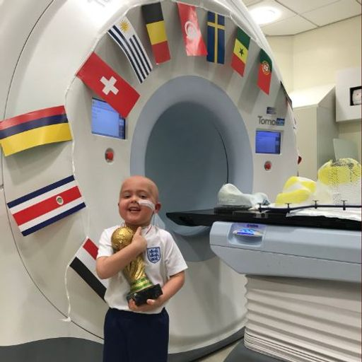 Boy given World Cup for bravery