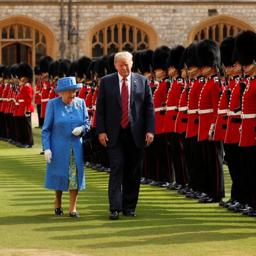 Donald Trump has tea with 'tremendous' Queen