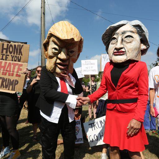 Britons back Trump on airing Brexit views