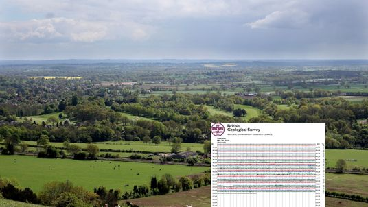 The earthquakes hit near Dorking in Surrey