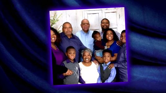 Eight of the nine Coleman family members who are believe to have died. Tia Coleman (far left) and her nephew (far right) survived.