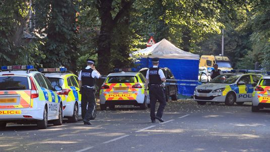 Police activity on Belle Vale Road in Liverpool where a 16-year-old boy was stabbed to death