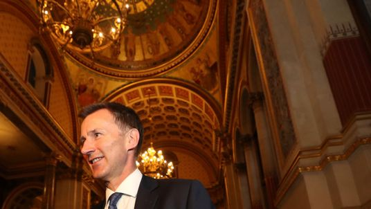 Jeremy Hunt arrives at the Foreign Office after succeeding Boris Johnson