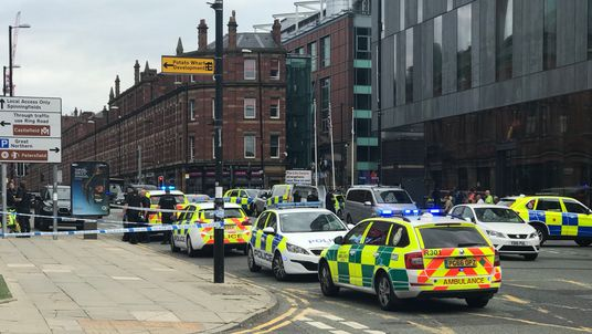 Police at the Hilton Hotel on Deansgate