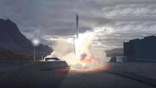 UK-based rocket builder Orbex's mock-up image of the Sutherland spaceport