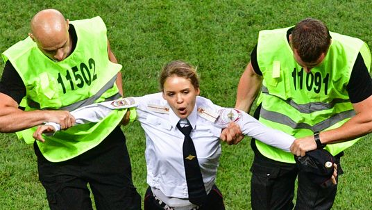 Protest during World Cup final