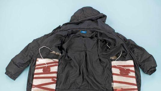 A suicide vest filled with fake explosives. Pic: Duncan Gardham