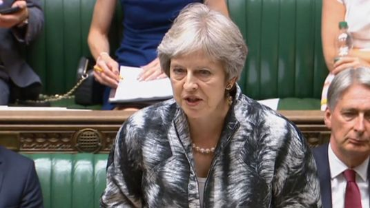 Theresa May in the House of Commons on Monday