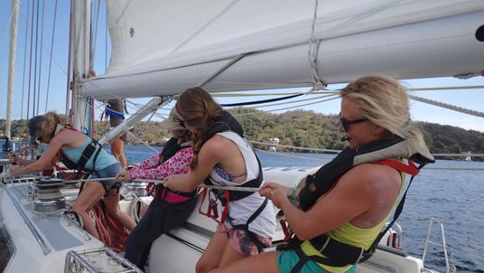 The expedition crew was made up 24 women from Britain, US, Canada, Slovenia, Norway and Honduras