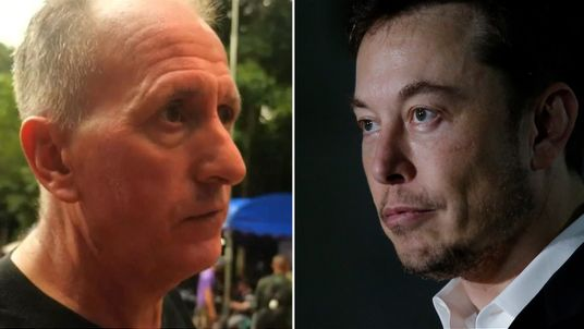 Vern Unsworth (L) and Elon Musk