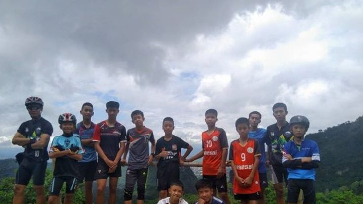 Missing Thai football team and their coach
