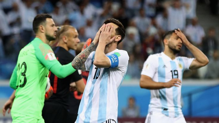 Lionel Messi with his head in his hands as Croatia beat Argentina 3-0