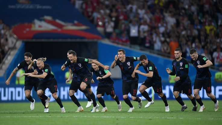 Croatia after they beat Russia on penalties during their quarter final match