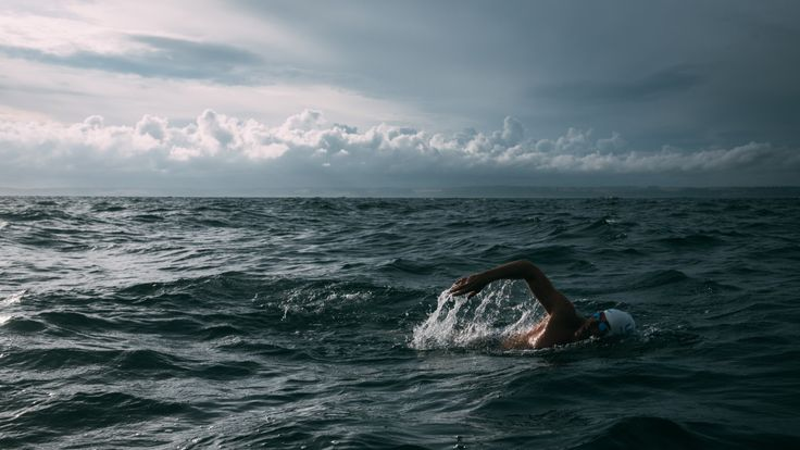 Lewis will be swimming in open water