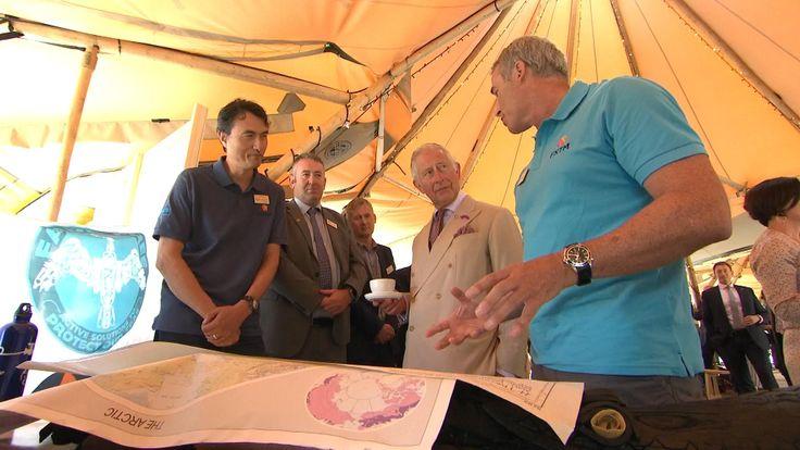 Lewis Pugh meets Prince Charles