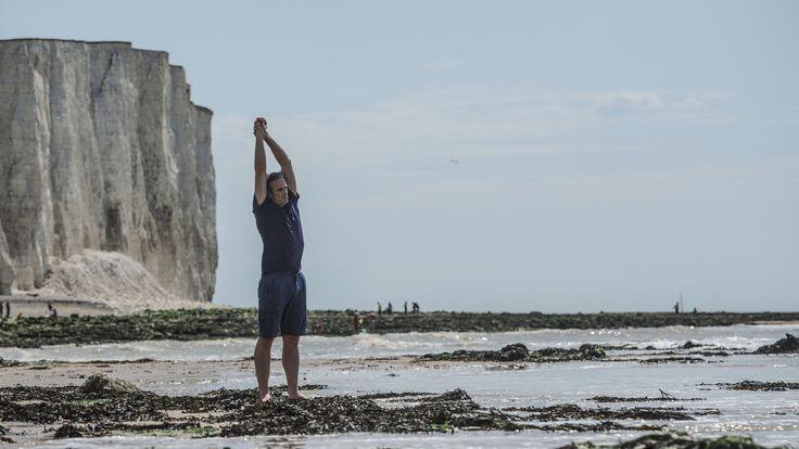 Lewis Pugh is preparing to swim the English Channel. Pic: Kelvin Trautman
