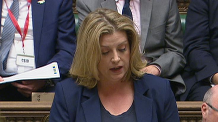 Penny Mordaunt is first government minister to use sign language in the House of Commons